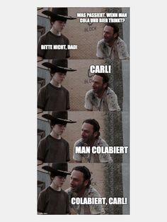 TWD-Fun: Wenn Rick Grimes die echten Kalauer rausholt  Dank The Walking Dead stecken wir gerade wieder total im Serienfieber und fangen sogar an, Montage wieder zu lieben. Leider steckt zwischen den einz...
