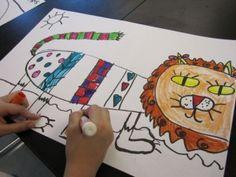 Kindergarten pattern lions