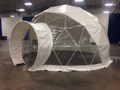 One of three matching domes for a Super Bowl event at the Meadowlands Exposition Center.