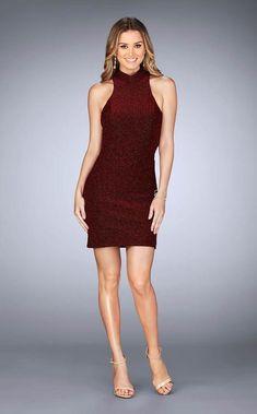 d11a622f 25367 High Halter Sheath Dress by La Femme at CoutureCandy.com Prom Dress  Stores,