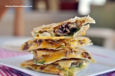 Cheeseburger Quesadillas- to use up that one leftover burger. This was really good and a great way to revamp burgers!