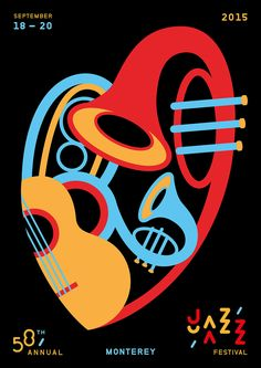 Jazz festival posters created for poster contest in Montrerey