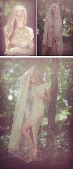 Amy Lee Werho and fawn in photography by Claudia McDade.  Styled by Samantha Paez