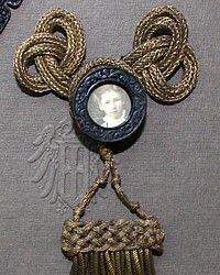 Antique French Mourning Pin Gold Bullion Passementerie Tassel B-metallic, victorian,fringe, millinery,frog, metallic