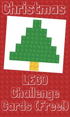 FREE 25 Days of Christmas LEGO Challenge Cards - This Life of Ours schoolchristmasparty Lego Christmas, 25 Days Of Christmas, Homemade Christmas Cards, Preschool Christmas, Christmas Themes, Christmas Crafts, Handmade Christmas, Lego Activities, Christmas Activities