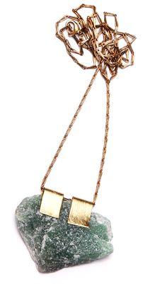 green aventurine necklace, $145