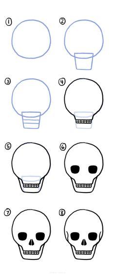 15 Easy Skull Drawing Ideas Easy Skull Drawings, Cute Drawings, Very Easy Drawing, Doodle Pages, Simple Acrylic Paintings, Best Blogs, Easy Watercolor, Mechanical Pencils, Skull Art