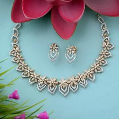 Discover a wide range of Diamond Necklace Set at Waman Hari Pethe Sons. Gold Earrings Designs, Gold Jewellery Design, Necklace Designs, Gold Designs, Bridal Jewellery, Wedding Jewelry, Diamond Tennis Necklace, Diamond Jewelry, Gold Necklace