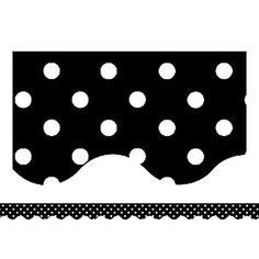 Black & White Polka Dot Bulletin Board Border, Scalloped $2.99
