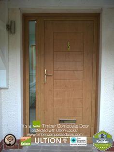 Irish Oak Palermo Solid with Side Panel Solidor Timber Composite Door Oak Front Door, Front Door Porch, Composite Front Door, Exterior Doors With Glass, Door Images, Timber Door, Free Credit, Extension Ideas, Door Ideas