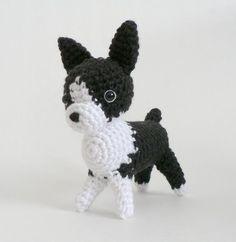 AmiDogs Boston Terrier amigurumi dog PDF CROCHET by PlanetJune (Craft Supplies & Tools, Patterns & Tutorials, Fiber Arts, Crochet, amigurumi, animal, toy, dog, boston terrier, puppy, terrier, boston, cute)