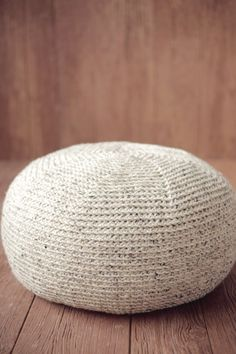 Would be great with a couple of these in a reading nook!  KNIT Pouf CROCHET PATTERN Crochet Pillow Ottoman Cushion Large