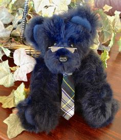 JP Bearington   A Plush Real Fur Teddy Bear by MorganCottageBears,
