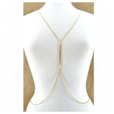 Simple Candied Gold Body Chain