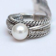 david yurman sterling silver 4 row box chain pave diamond x bracelet david yurman and pearl diamond