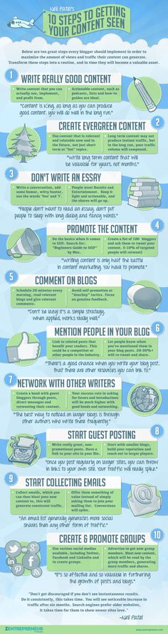 10 Steps To Getting Your Content Seen #blogging #socialmedia