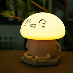 SPECIAL FASHION DESIGN – The LED night light is so cute that the head made of Silicone, and the kid will not hurt it. It takes two modes you can choose that The LED Give out the lights of different color which made your room more warm and sweet. WORK AT LEAST 10 HOURS – Give you a 1200 mAh battery, that can work for at least 10 hours after full power. The night light makes your room all night long and creating a comfortable feeling. EASY TO CONTROL THE LIGHT &#821