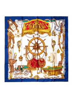Navy Musee Scarf MM from Sail Away: Chic Seaside Accessories on Gilt
