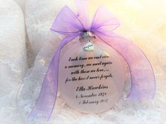 Memorial Ornament Each Time We Embrace, Personalized and with Charm Heart Never, M M Candy, Memorial Poems, Memorial Ornaments, Own Quotes, How To Make Ornaments, Glass Ornaments, I Am Happy, Gift Wrapping