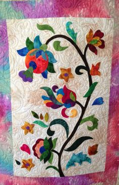 Jacobean Fantasy block made by Janet Beyea