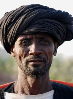 Mauritania, Africa. Desert peoples have long used the turban to keep sand out of their faces.