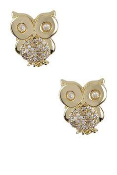 Little CZ Owl Post Earrings on HauteLook