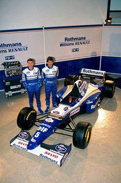 David Coulthard (GBR) and Damon Hill (GBR) at the launch of the Williams 1995 © Williams Grand Prix Engineering Ltd. Damon Hill, F1 Racing, Racing Team, Drag Racing, Sport Cars, Race Cars, F1 Motorsport, David Coulthard, Ferrari F12berlinetta
