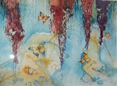 Sommerfugler malt av Toril Malmo