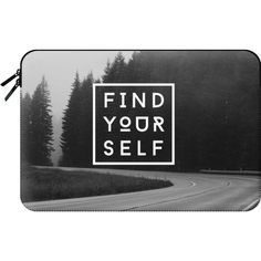 Macbook Sleeve - FIND YOURSELF (186.460 COP) ❤ liked on Polyvore featuring accessories, tech accessories and macbook sleeve