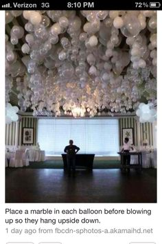 balloon decor.  If only I had time to do this