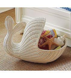 Cute whale/beach nursery idea! I'd put toys or stuffed animals inside instead