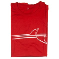 Inspired by the image of fin lines cutting through the water by the big ol' wooden keels on my twin fin Dick van Straalen hydro hull. When you don the Mens Finlines T-Shirt think long swooping speed and carving down a smooth wave face.