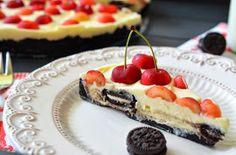 Ninas kleiner Food-Blog: Oreo-Kirsch-Käsekuchen mit weißer Schokolade
