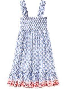 I want this for B! - Girls Metallic Smocked-Ruffle Dresses | Old Navy