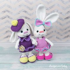 The Pretty Bunny Amigurumi Pattern will help you to create a crochet toy with a lot of cute details. This lovely amigurumi bunny is an ideal Easter gift! Crochet Bunny Pattern, Crochet Rabbit, Crochet Animal Patterns, Crochet Patterns Amigurumi, Crochet Dolls, Crochet Gratis, Free Crochet, Easter Crochet, Crochet Basics