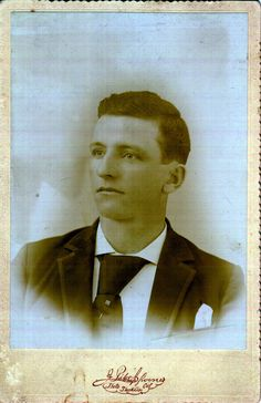 Francis William Allender Taken In Early 1890s From J Pitcher Spooner Stockton CaliforniaCarte De Visite