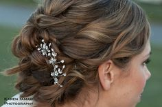 Sparkling rhinestone vine hair pin set by One World Designs Bridal Jewelry