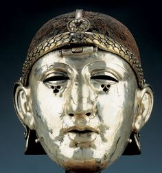 1st C. Roman legion Silver Helmet with Facemask, from Homs Syria (ancient Edessa), National Museum of Syria, Damascus