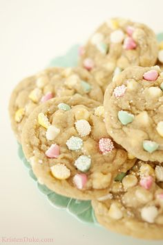 Mint Chocolate Cookie (Non Pareil) - 3 fun ways to use Wilton mint drops in spring / Easter recipes | KristenDuke.com