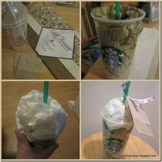 How to give a starbucks gift card in a fun way