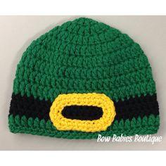St. Patrick's Day Leprechaun Beanie Hat - All sizes on Etsy, $13.00