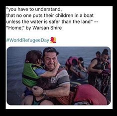 We should have compassion for these people. Iran and Syria had thriving modern cities before a tyrannical government took over. WE MAY BE THE REFUGEES NEXT. Retro Humor, Mantra, Refugees, Faith In Humanity Restored, Social Issues, Social Justice, Human Rights, In This World, Equality