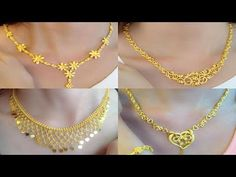 Latest Light Weight Gold Necklace Designs | Gold Necklace For Women Under 10 Grams - YouTube