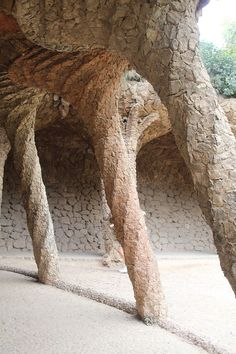 Park Guell is one of Antoni Gaudi's masterpieces