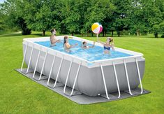 16ft X 8ft X 42in Prism Frame Rectangular Pool Set - Intex - Above Ground Pools - Pools - The Home Depot