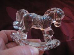 Princess House Crystal Rocking Horse 24 Lead by ChinaGalore, $20.00