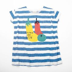 Bobo Choses  Dress S/S Stripes & Veggies
