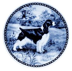 English Springer Spaniel / Lekven Design Dog Plate 19.5 cm /7.61 inches Made in Denmark NEW with certificate of origin PLATE -7001 * You can get more details by clicking on the image. (This is an affiliate link) #PetDogs