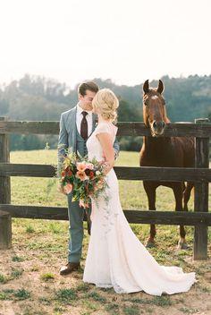 Equestrian wedding shoot