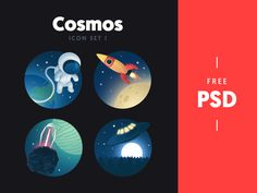 Dribbble - Cosmos - free icon set 1 by Kreativa Studio